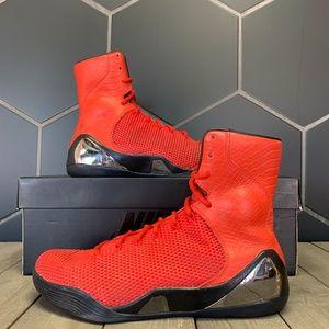 Nike Kobe IX High KRM EXT QS Red Mamba Size 10